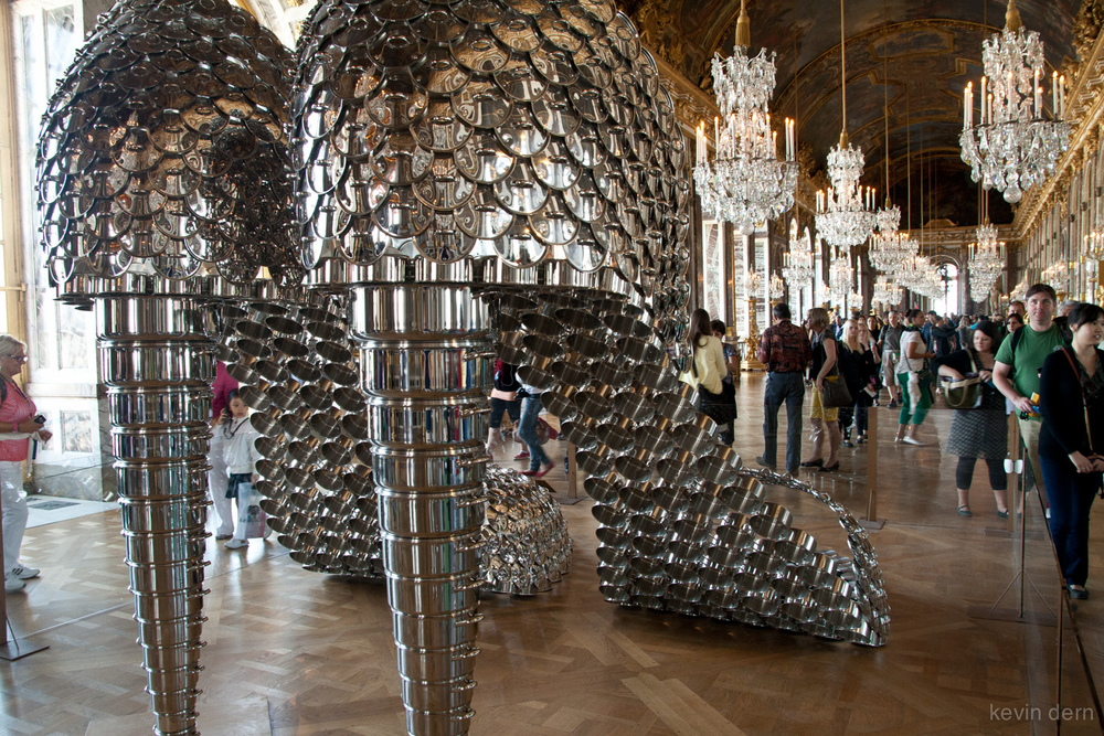 Modern art at the Versailles Palace