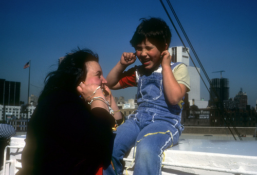 My Mom Gloria and I on a cruise (1977).