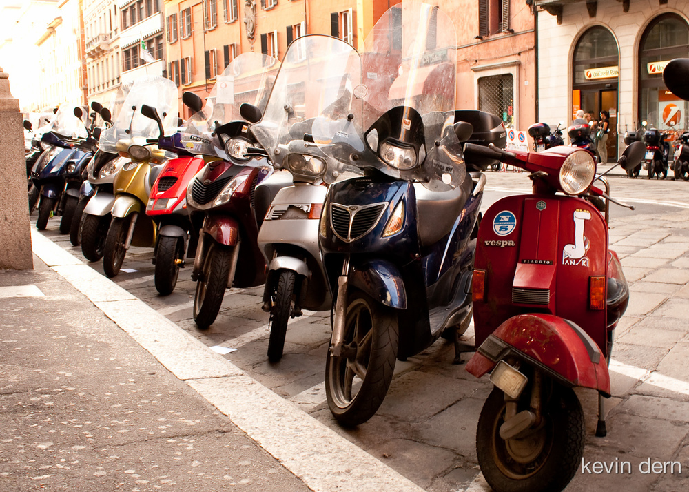 Scooters in Bologna, Italy