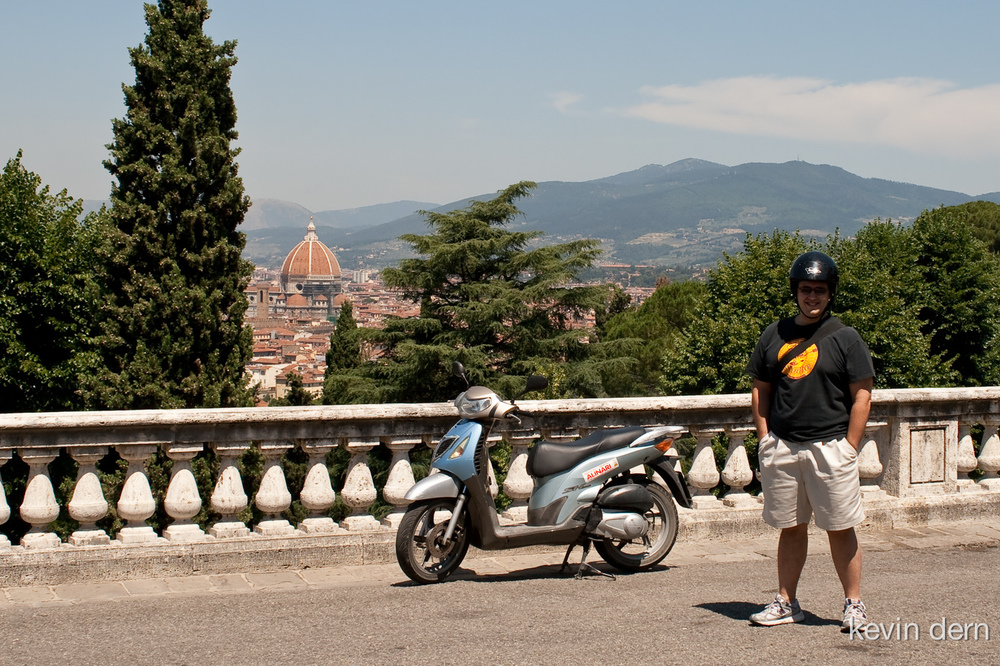 Me with my scooter rental in Florence