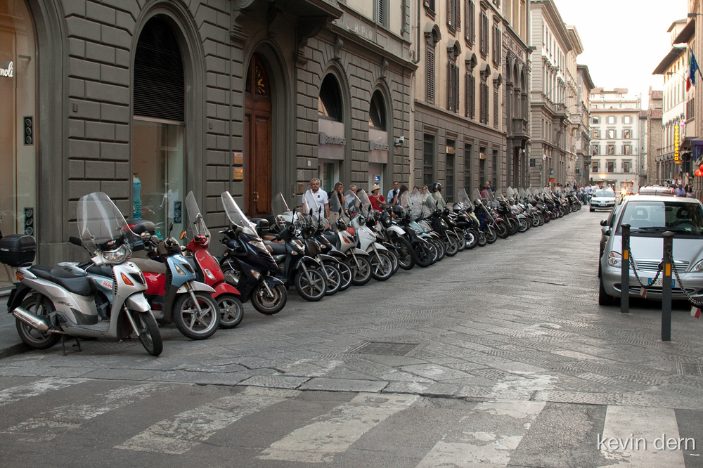Scooters in Florence