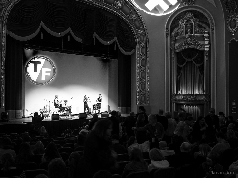 Musicians performing before a film at the Missouri Theater in Columbia, MO.