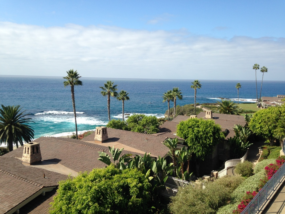 View of the Pacific from their room at Montage Laguna Beach.