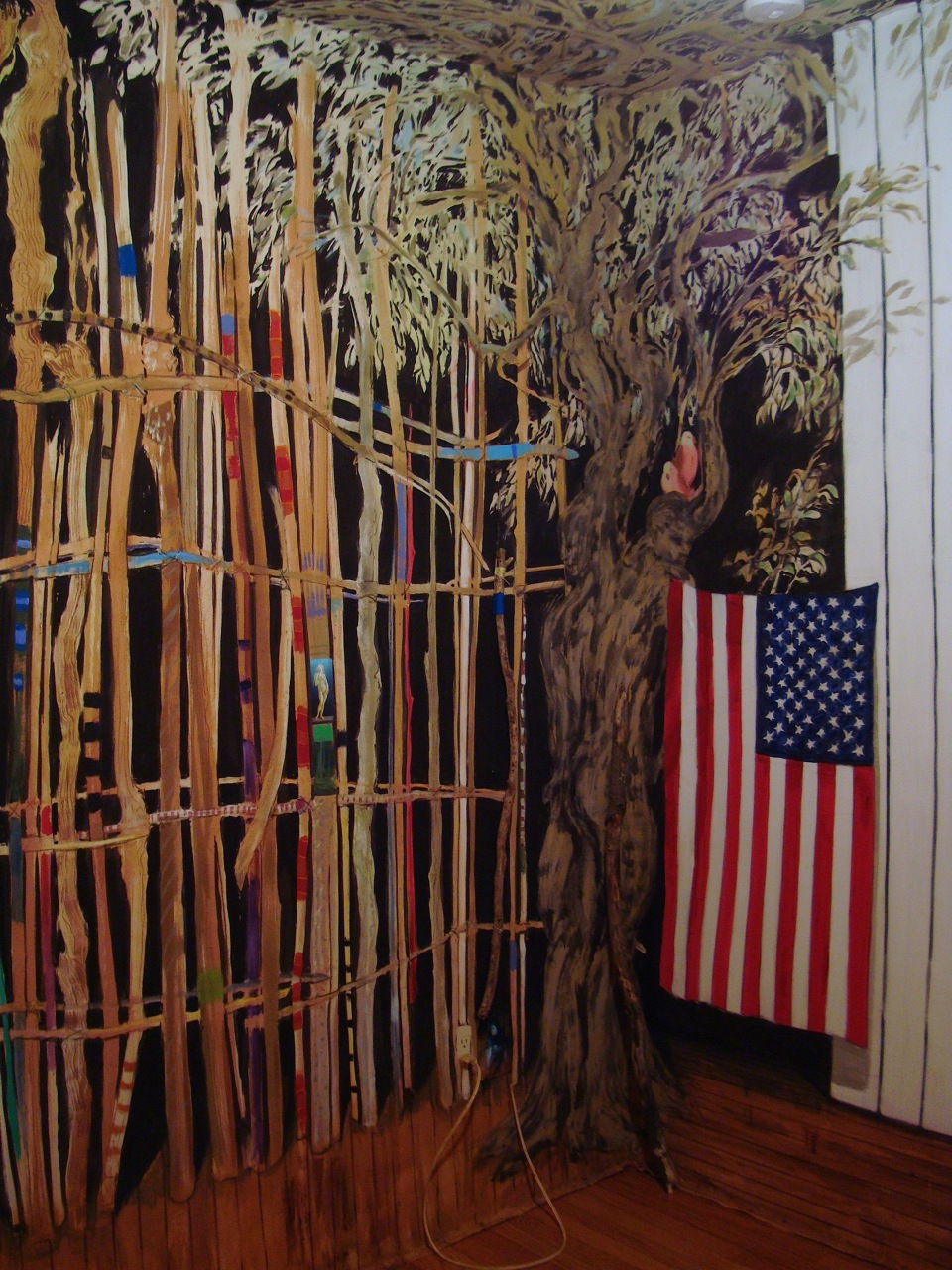 "Kai Teichert, ""Hudson Room,"" Installation at LKC, Hudson, NY, 2013"
