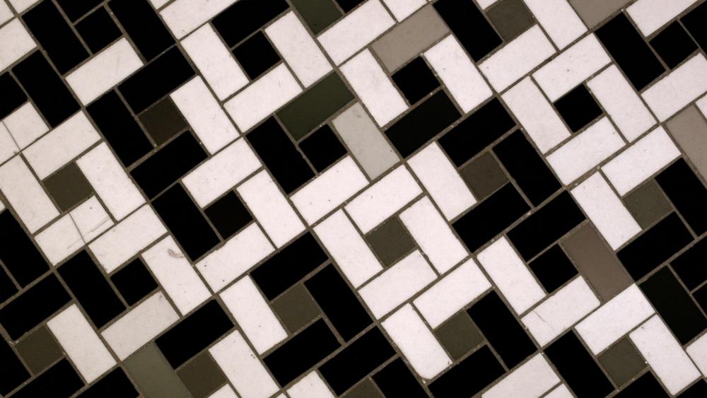 """Noah Klersfeld """"PERCUSSIVE LIGHTS WITH BATHROOM FLOOR #12"""""""