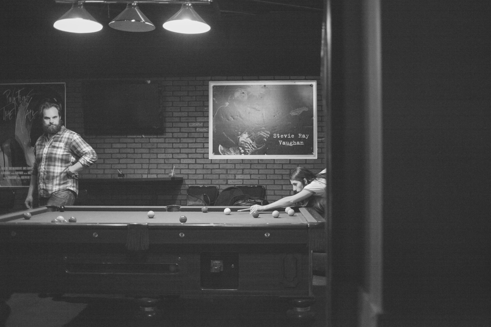 Pool Hall Black and White