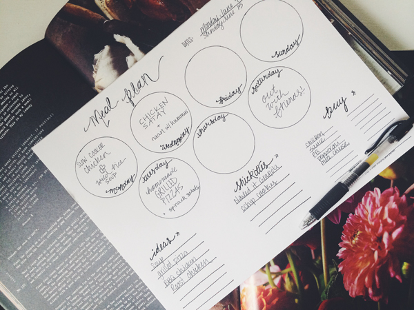 Meal Planning Notepad | via Frame of Reference