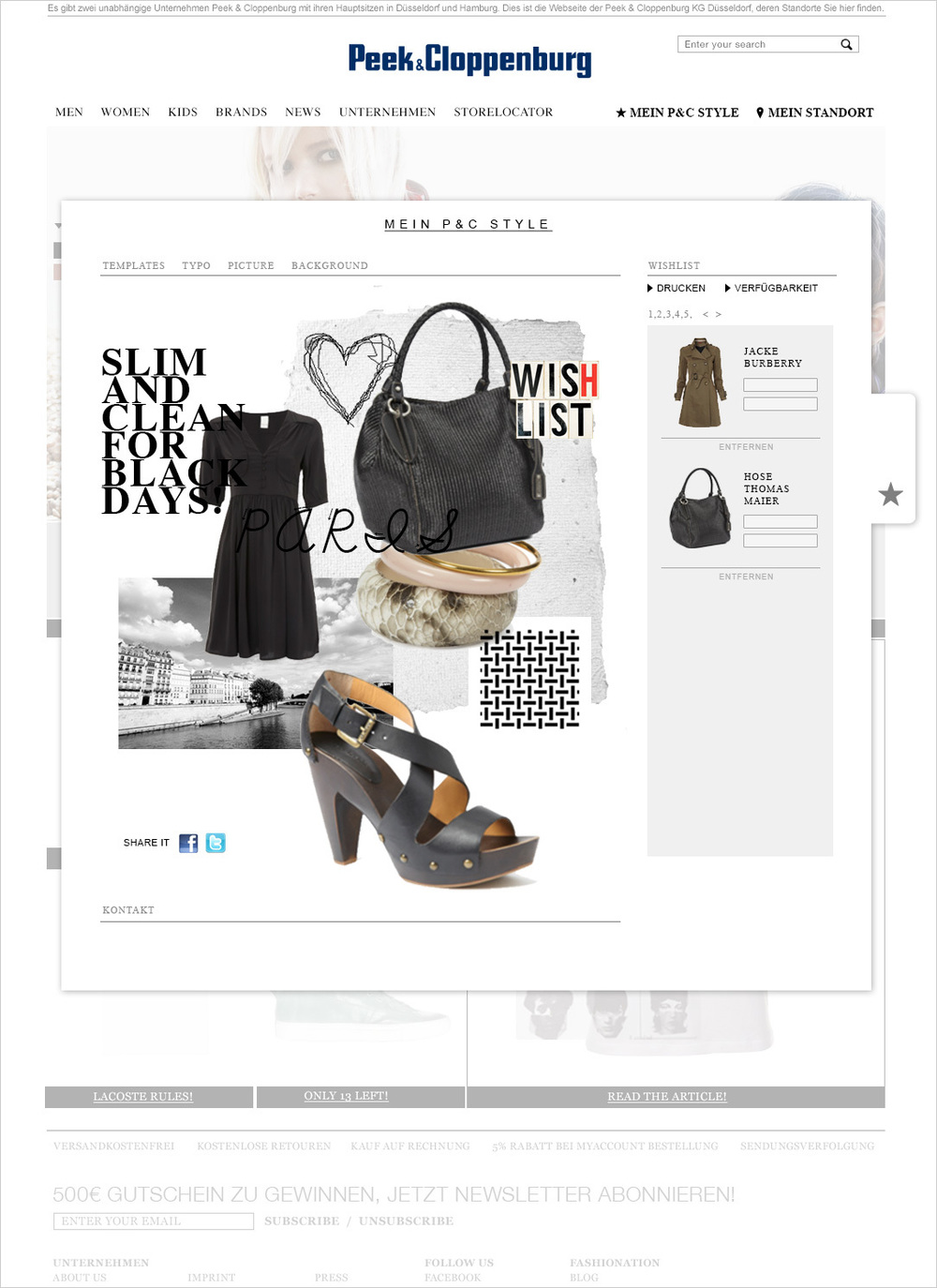 e252c99a674293 Peek   Cloppenburg eCommerce — WERBEWELT WERBEAGENTUR STUTTGART ...