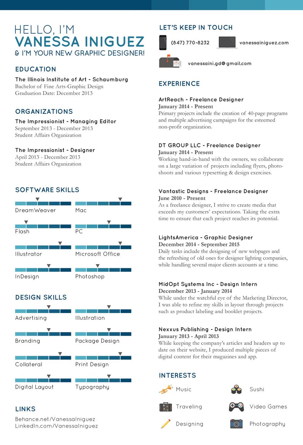 Resume Vantastic Designs