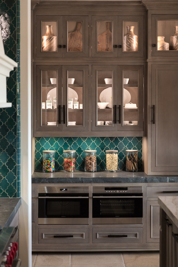 Hilltop Hacienda is an interior design project by Denise Morrison Interiors featuring kitchen backsplash tile and kitchen accessories.