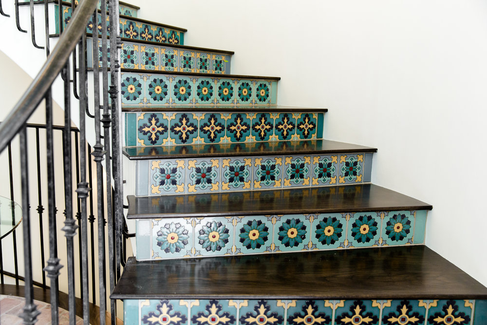 Hilltop Hacienda is an interior design project by Denise Morrison Interiors featuring custom decorative tile.