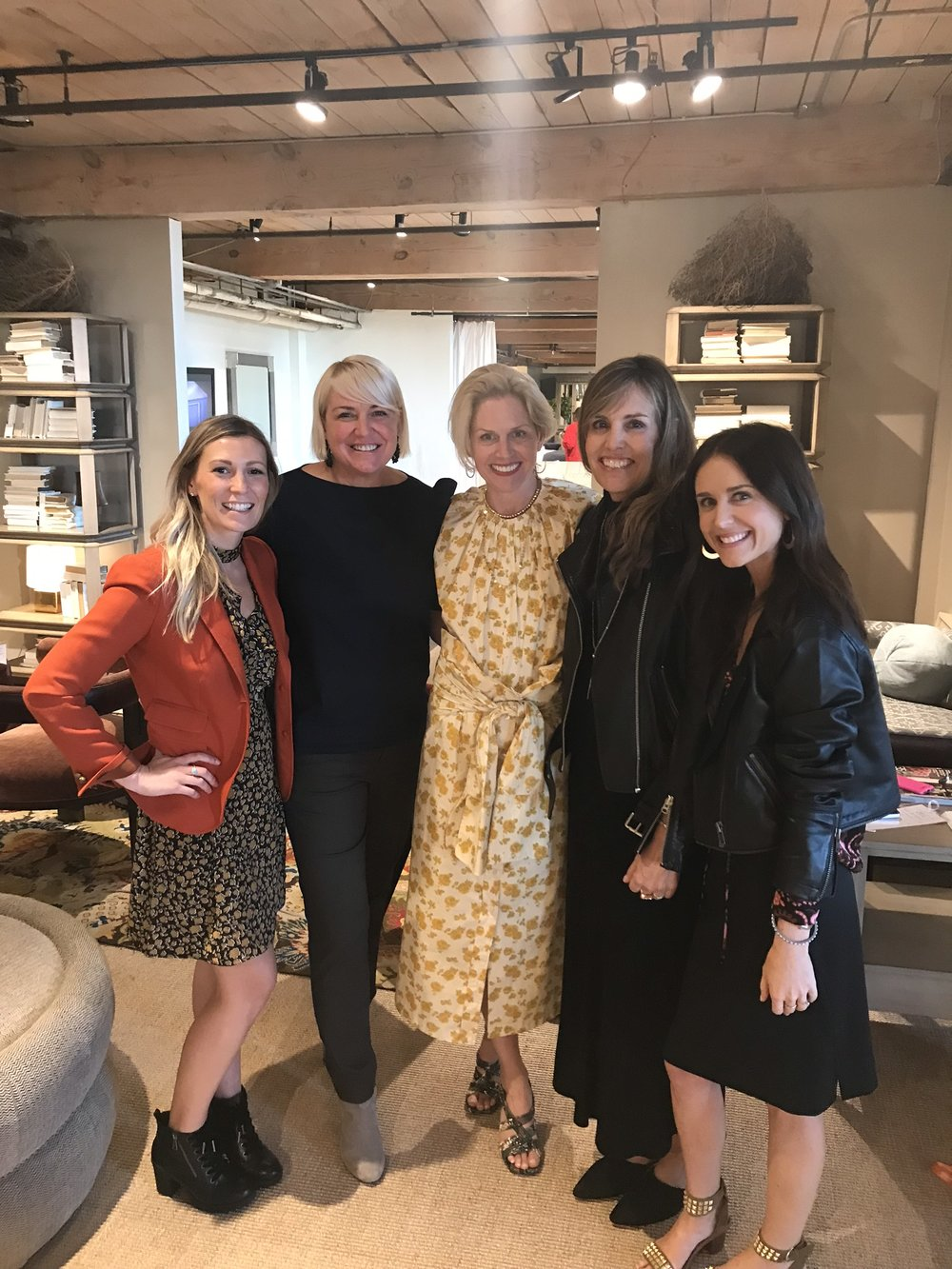 Liz, Rachel, and me meeting a few of our design icons - Susan and Kate Hable.