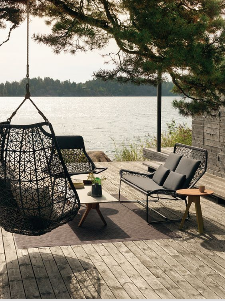 Kettal Outdoor Swing, Outdoor Trends by Denise Morrison Interiors.png