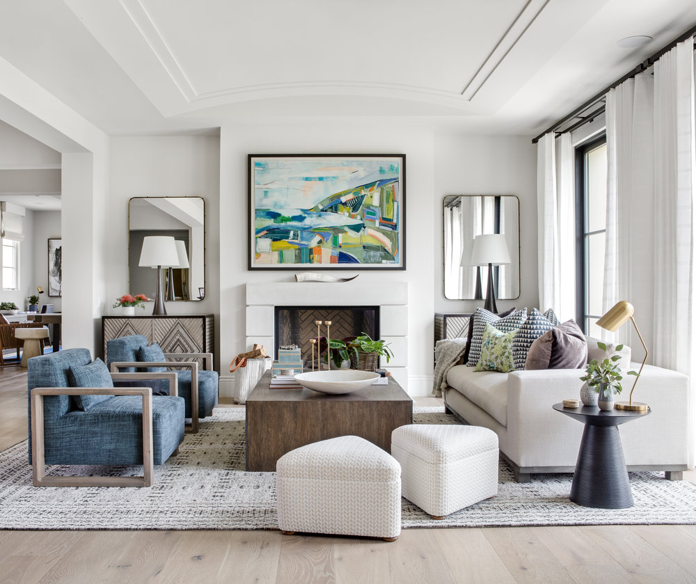 Featured Design:She's A Super Chic - Our most recently completed project, located in beautiful Shady Canyon, features a mix of textures, color, and art.