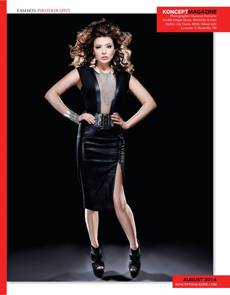model: Ginger Sharp  Photographer: Shannon Fontaine  Style/Wardrobe/Hair: Joy Travis  MUA: Shleen Lyle