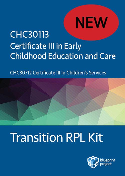 Certificate III in Children\'s Services to CHC30113 Certificate III ...
