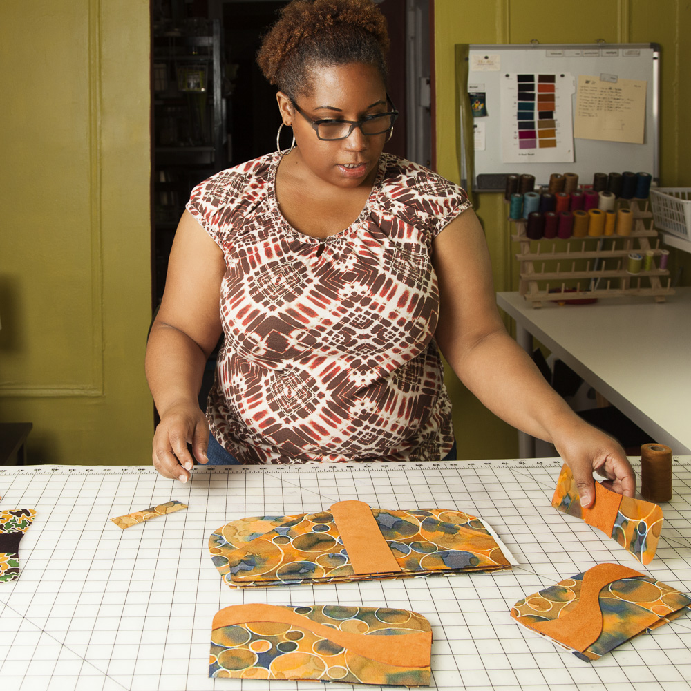 She cuts several items from one painting