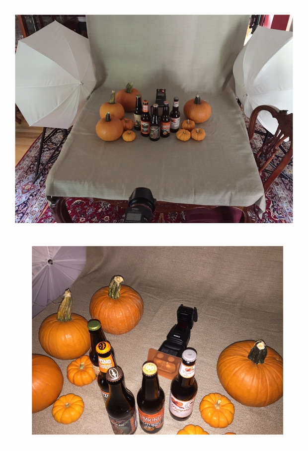 Behind the scenes of my pumpkin beer shoot