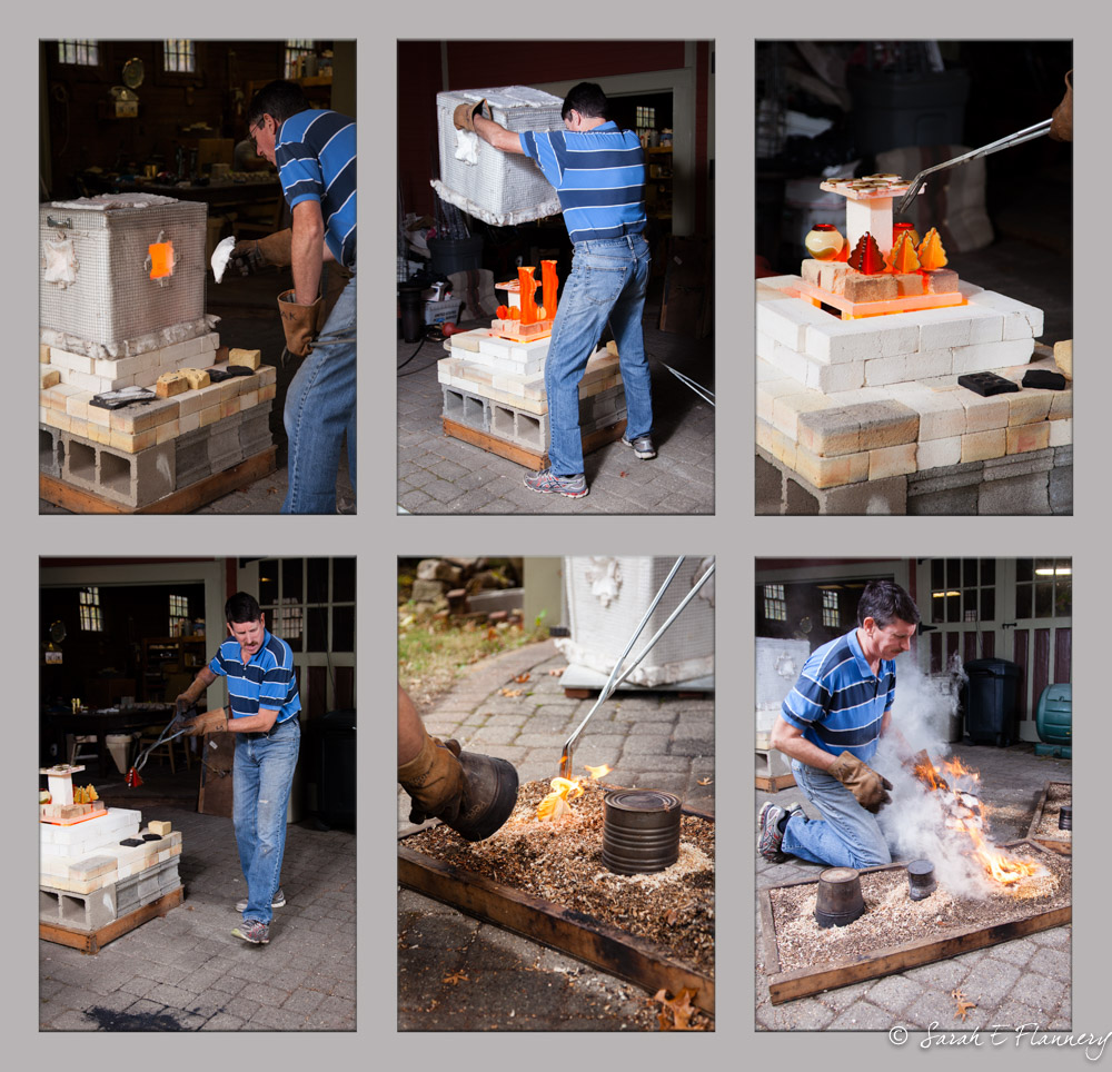 A live demonstration of the Raku process by Peter, including the promised Christmas Ornaments...and flames!