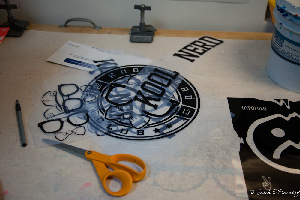 Kool Nerd logos for screen printing