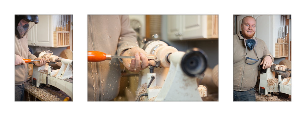 Tyler creates a pepper mill on his lathe