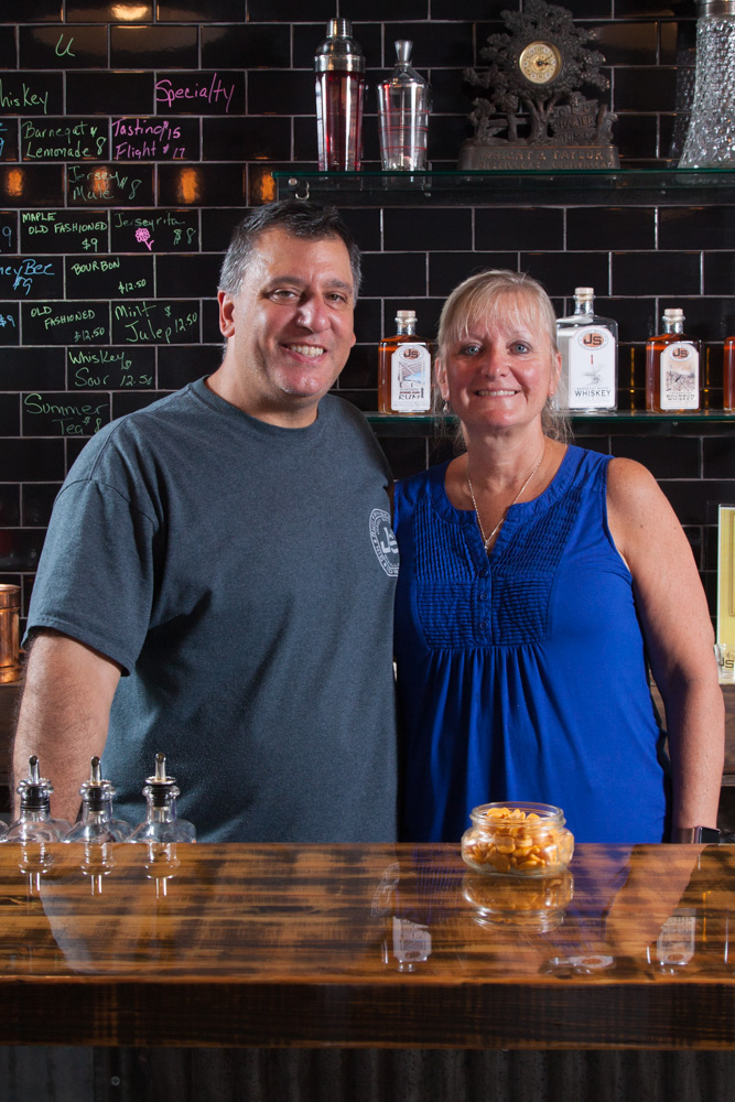 Jersey Spirits Distillery owners John Granata and Sue Lord.