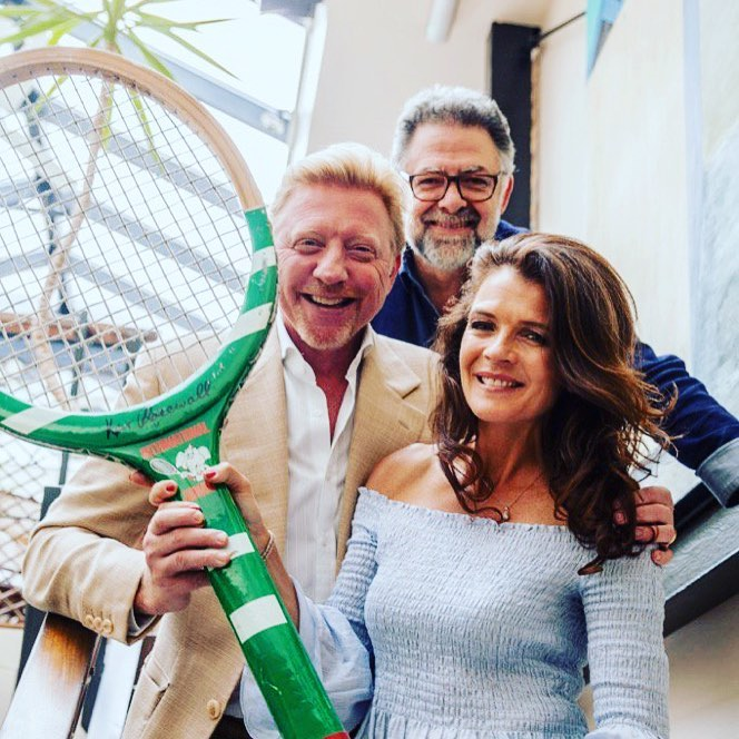 Boris Becker | Annabel Croft | Ghigo Berni