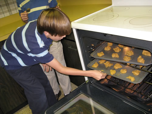 And into the oven they go! Not only do God's gifts give us each a unique flavor, but they equip us each for the work that God calls us to do, just as we use different spices in cookies than in, say, chile. Ephesians 4:11-12 touches on that aspect. When God calls us to a task, he does not call empty-handed; he also equips us.
