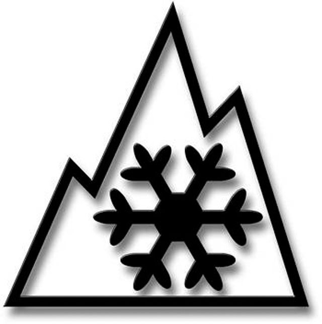 The Mountain/Snowflake symbol of winter-driving safety.