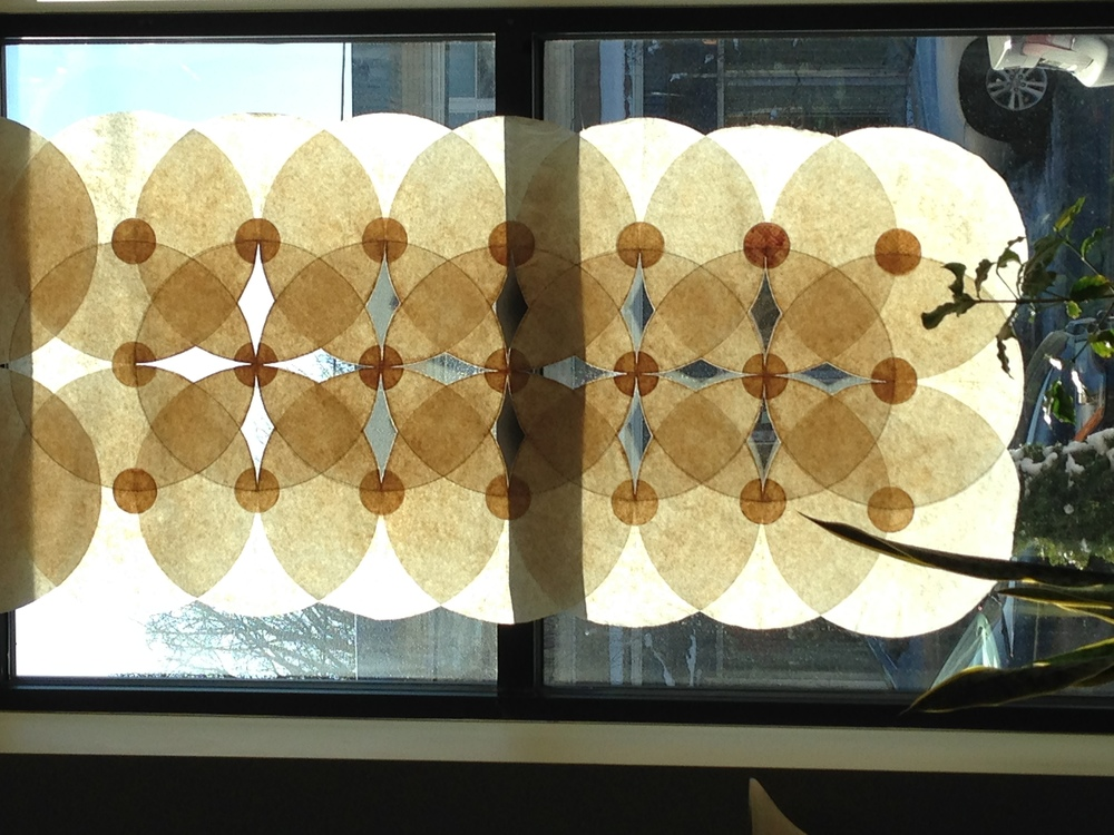 A sample piece by Tammy Knorr - Coffee Filter Window Hanging