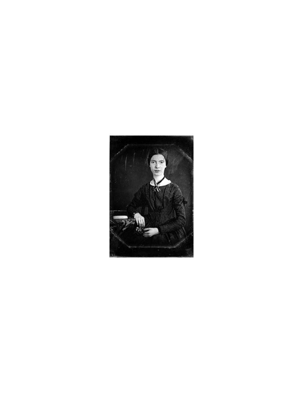 Authenticated daguerreotype of Emily Dickinson while she was at Mount Holyoke.