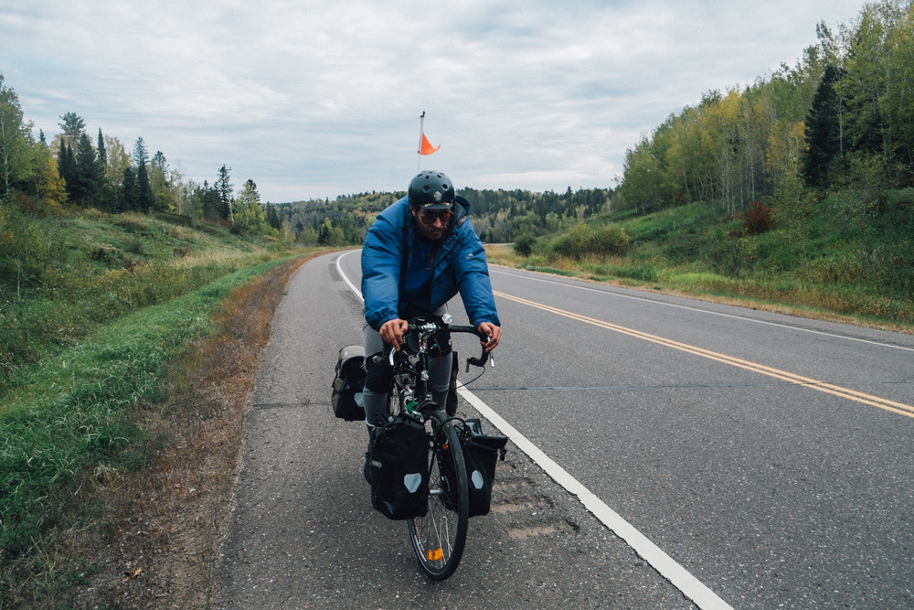 Bike camping trip from Bayfield to Minneapolis - 3 days, 240 miles.  Oct 2015