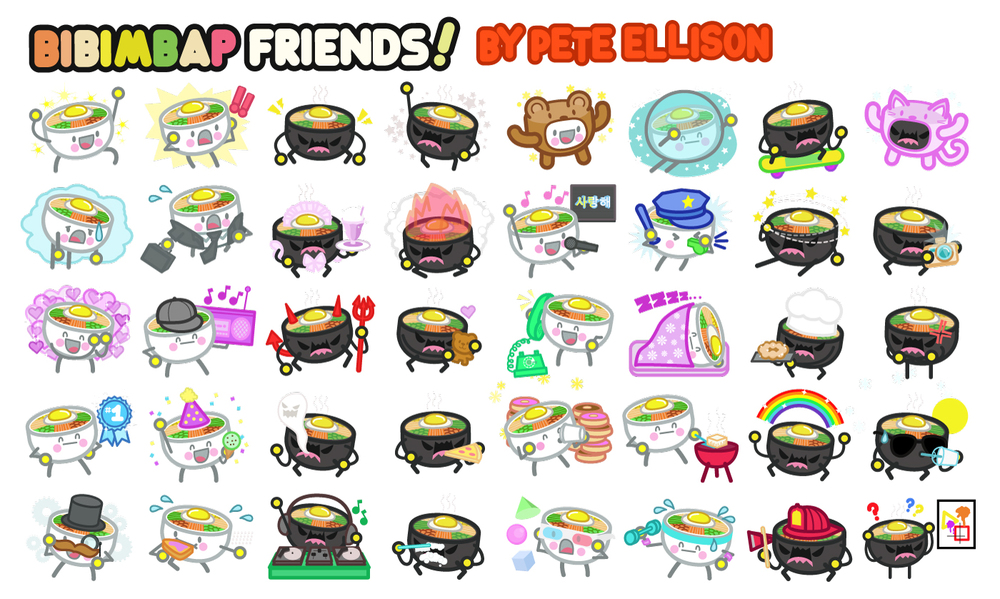 Digital stickers preview bibimbap wide jpg