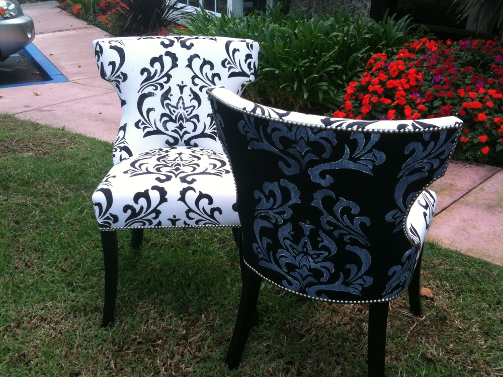 Chairs that were showcased at Estate of Design: Pattern is Meghan