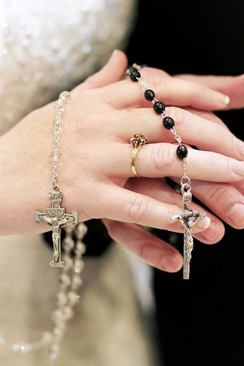 Church wedding rosary