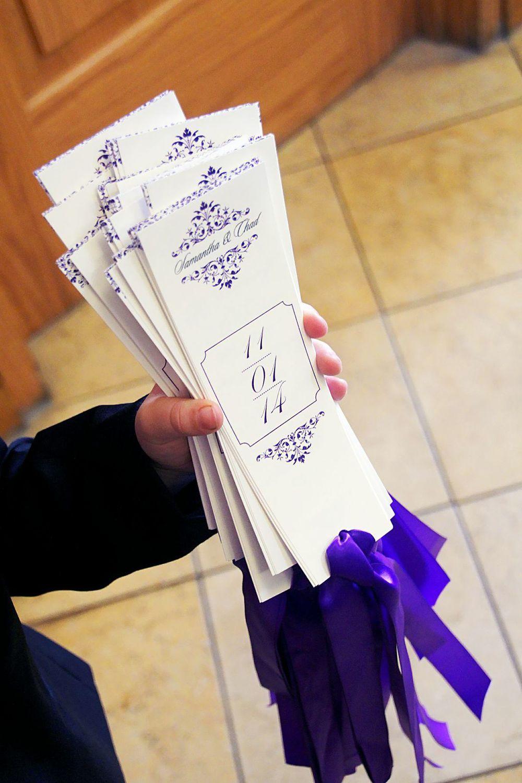 custom programs purple wedding