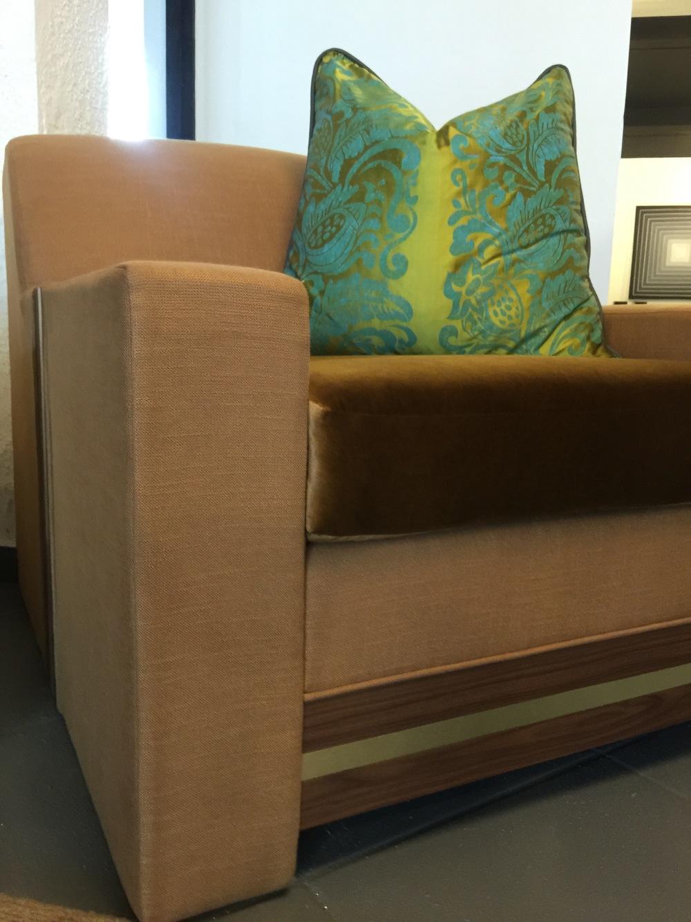 gk design laurie ottoman sarah strader linen