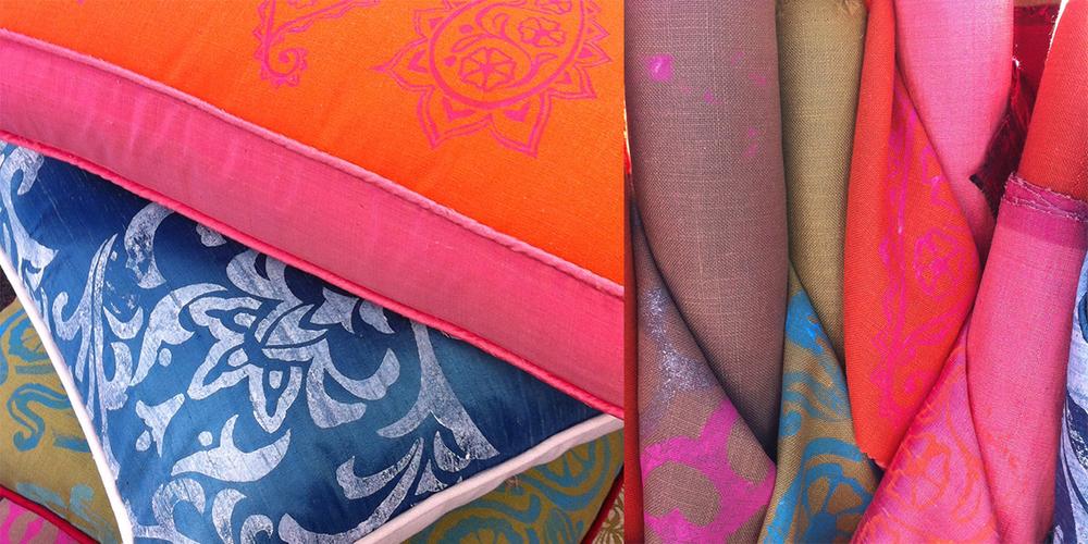 hand printed custom fabrics