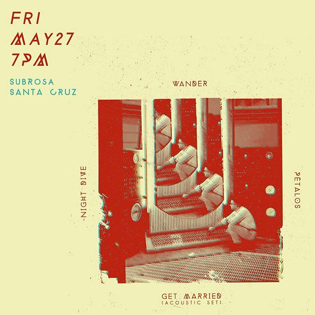 #santacruz show next Friday. going to be wild. get chur #gigposters and #albumart at jasonmakesthings.com