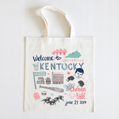 Custom Wedding Welcome Totes