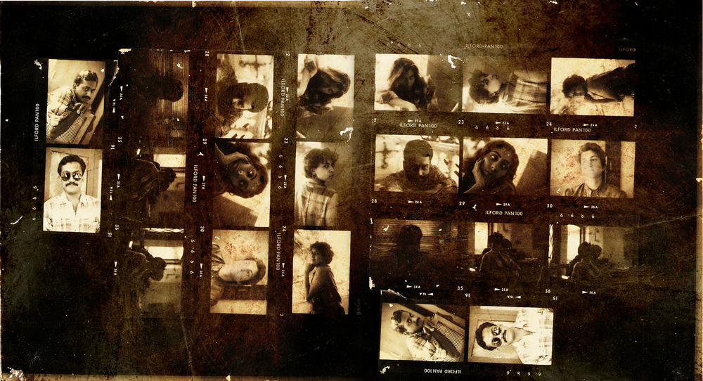 This contact sheet is from mid 2000s, with my advertising fraternity. The couple stuck to each other on the right side bottom eventually got married and started a family. Last year I came to know that the lover boy who happened to be 'underexposed' in all these shots had died a few years later. In hindsight that eventuality adds a certain sense of mystery to my exposure at that point. Scary!