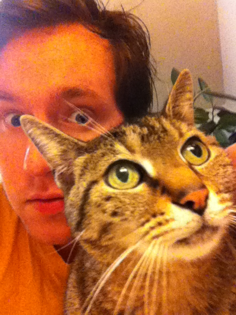 Pictured: tMA's Aaron Colter and his cat