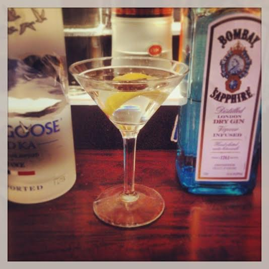 Top shelf Gin/Vodka Martini
