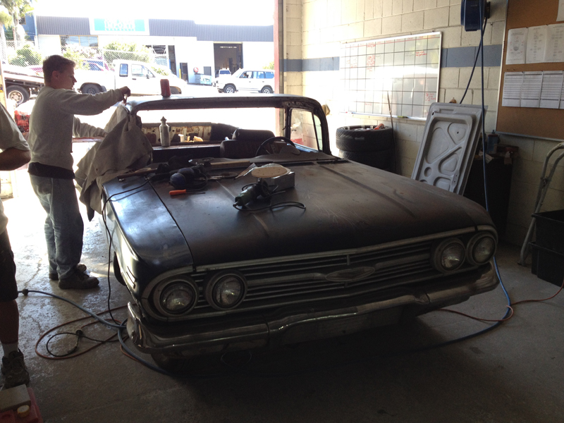 1960 Chevrolet El Camino Restoration - Ol' School Garage (152).jpg