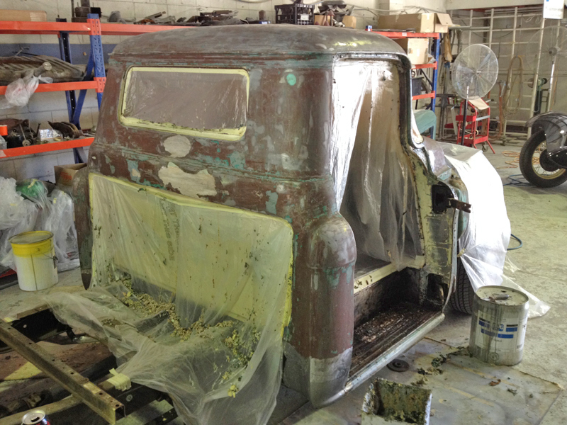 55 Chev pickup truck restoration - ol' school garage (12).jpg