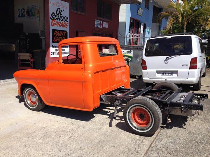 1955 Chevrolet Pickup Truck - Respray Orange - Ol' School Garage (2).jpg