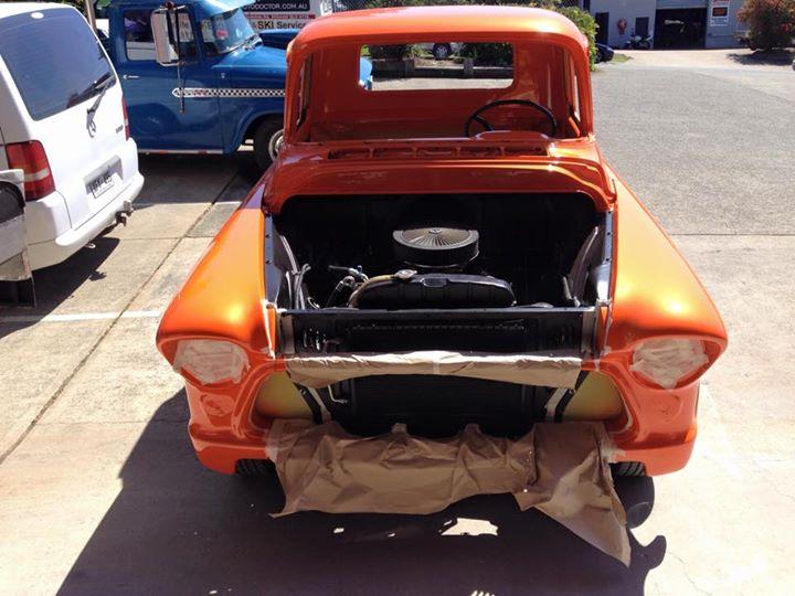 1955 Chevrolet Pickup Truck - Respray Orange - Ol' School Garage (1).jpg