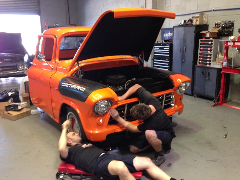 1955 Chevrolet PIckup Truck Restoration - Ol' School Garage (106).JPG