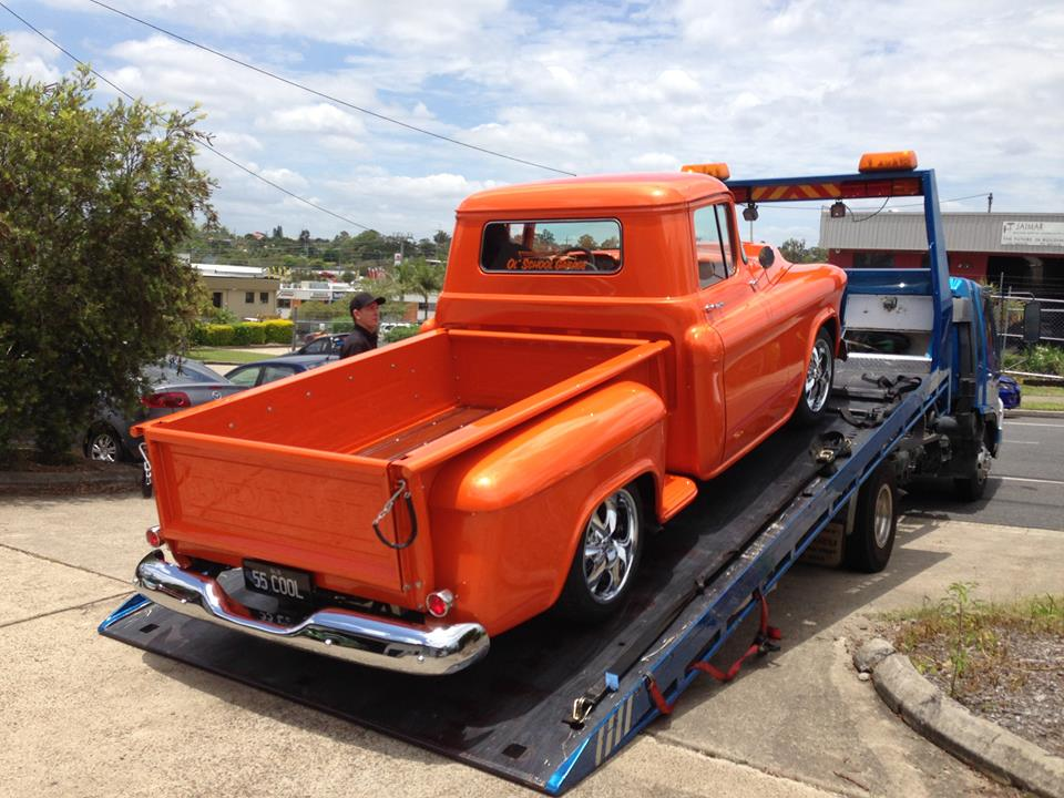 And as per yesterday's post, the 55 Chevy pickup is now on the Sunshine Coast in the hands of its very happy owner...feedback from Warren this morning is that the truck gets plenty of looks...who would have thought!