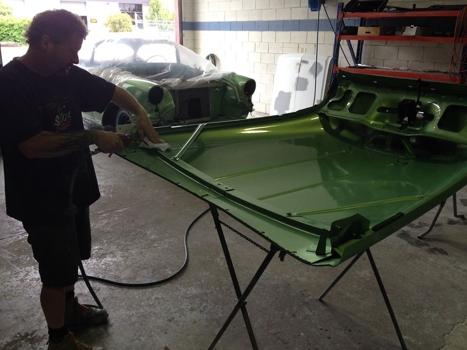 The 56 Olds is just about done...Jamie just has to do a few paint touch-ups before going back to the owner this week.